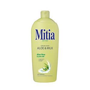 Mitia Aloe and milk folyékony szappan utántöltő, 1 000 ml