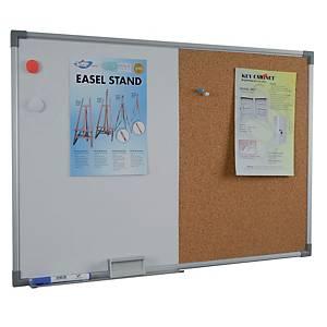 Writebest Combination Whiteboard + Cork Notice Board 60 X 90cm