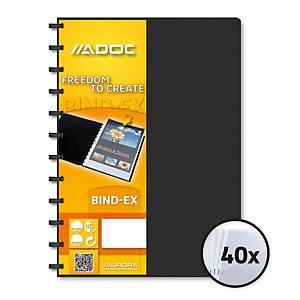 Sichtbuch Bind-Ex Adoc System 5842 A4, 40 Taschen, schwarz