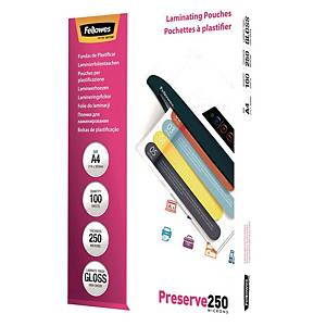BX100 FELLOWES LAM POUCH 500MI A4 GLOSS