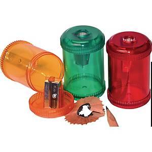 Dosen-Spitzer Kum, 1 Loch, Kunststoff, farbig assortiert