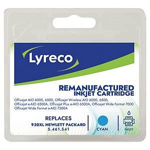 Lyreco compatible HP CD972AE cartouche jet d encre nr.920XL bleue [700 pages]