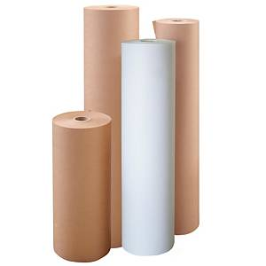 Rollo de papel de embalaje kraft - 1100 mm x 300 m - 80 g/m² - blanco