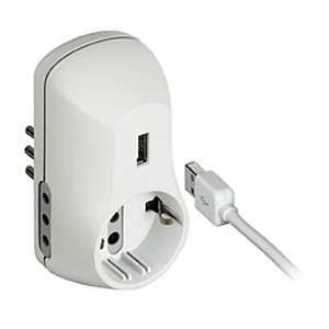 Kit adattatore Bticino USB 10A con Shuko