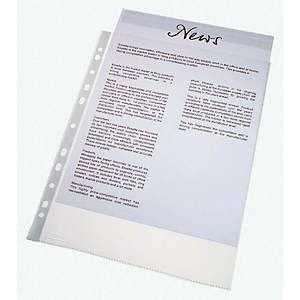 Pack de 100 micas multifuro Esselte - fólio - PP vidro - 110 μ