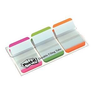 3M Post-it® 686 Záložky strong šírka 25mm, bal. 3 farby po 22 lístkov