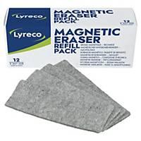 Extra torkfilt till magnetisk tavelsudd Lyreco, förp. med 12 st