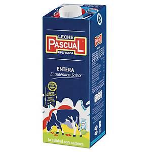 Pack de 6 briks de leche entera Pascual - 1 L