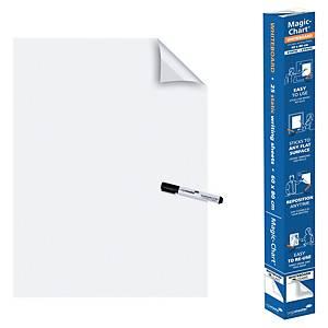Pack 25 folhas lisas eletrostáticas Magic-Chart - 800 x 600 mm