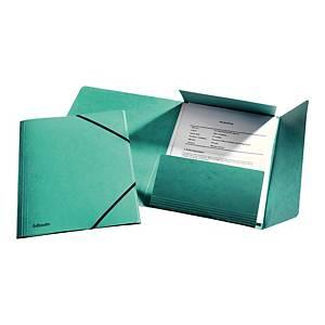 Teczka kartonowa A4 ESSELTE z gumkami zielona opakowanie 10 sztuk
