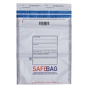Koperty bezpieczne Bong SAFEBAG B4, szare, w opakowaniu 100 sztuk