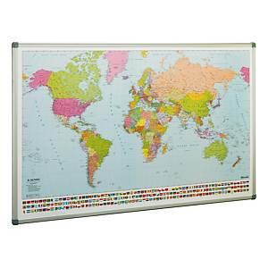 Mapa-múndi magnético Faibo - 1400 x 840 mm