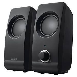 Stereo-Lautsprecherset Trust Remo 2.0, kabelgebunden, schwarz