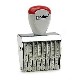 TRODAT ตรายางตัวเลข TR-1548 ตัวเลข 8 หลัก 4 มม.