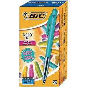Kuglepen BIC M10 Ultra Color, æske a 50 stk.
