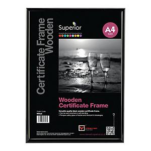 Ramka na zdjęcia STEWART SUPERIOR, A4,  drewniana, czarna