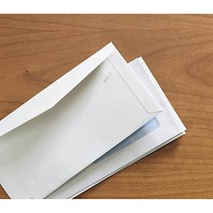 Caixa 500 envelopes americanos - 115 x 225 mm - banda de humedecer