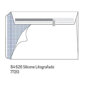Caixa 250 envelopes DIN B4 - 250 x 353 mm - banda adesiva