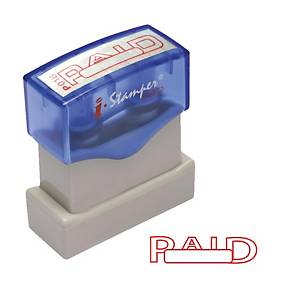 I-STAMPER ตรายางหมึกในตัว เบอร์P01B  PAID  แบบโปร่งสี