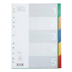 FLAMINGO 9532A-5 Plastic Paper Divider A4 1-5 Part 5 Colours