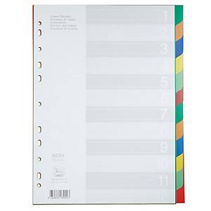 FLAMINGO 9532A-12 Plastic Paper Divider A4 1-12 Part 6 Colours