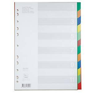 FLAMINGO 9532A-12 อินเด็กซ์พลาสติก A4 1-12หยัก 6 สี