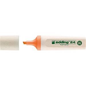 Surligneur Edding Ecoline 24, pte biseaut., largeur de trait 2-5 mm, orange
