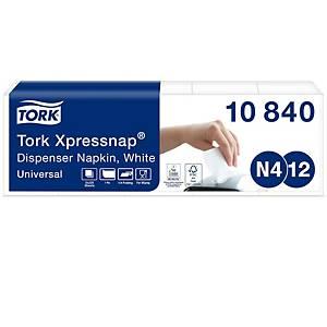 Spender-Serviette Tork Xpressnap, 1-lagig, weiss, Packung à 5x 225 Stück