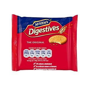 McVitie s Digestives Biscuits Mini Packs - Box of 48 Packs of 2