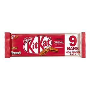 KitKat 2-Finger Milk Chocolate Biscuit Bar 20.7g - Pack Of 9
