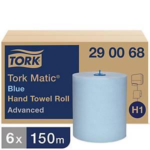 Tork Matic® Advanced handdoekjes op rol voor Tork H1, blauw, pak van 6 rollen