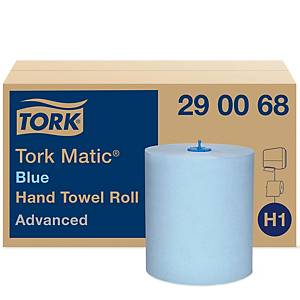 Handtuchrolle Tork Matic Advanced, 2-lagig, Packung à 6 Rollen, blau