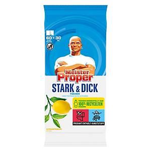Lingettes nettoyantes humides Mr. Proper, citron, pack of 60 piècess