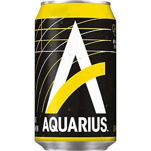 Aquarius Lemon frisdrank, pak van 24 blikken van 33 cl