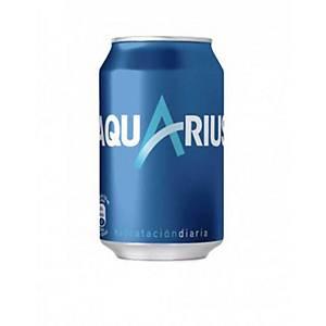 Pack de 24 latas de Aquarius limón - 33 cl