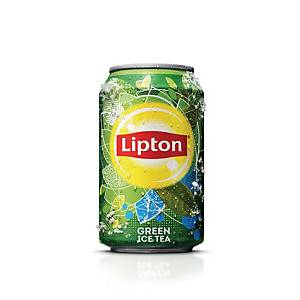 Soda Lipton Ice Tea Green, le paquet de 24 canettes de 33 cl
