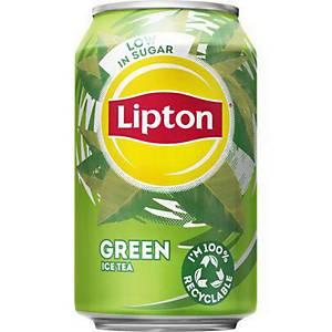 Lipton Ice Tea Green frisdrank, pak van 24 blikken van 33 cl