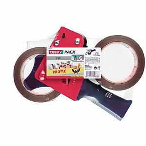 Packbandabroller Tesa 57108, 50mm x 66m, inkl. 2 Rollen Packband