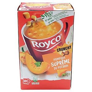 Soupe Royco suprême de potiron et croûtons - boîte de 20 sachets