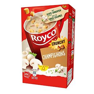 Royco Crunchy Champignons, la boîte de 20 sachets