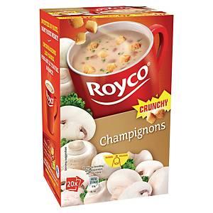 Soupe Royco champignons et croûtons - boîte de 20 sachets