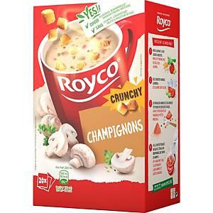 Royco Crunchy Champignons, doos van 20 zakjes