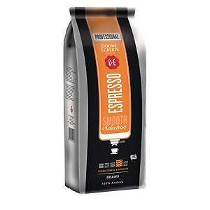 Grains de café Douwe Egberts Smooth Selection Espresso, le paquet de 1 kg