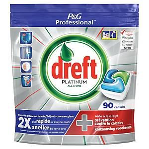 Tablettes lave-vaisselle Dreft Professional Platinum, les 90 tablettes
