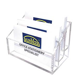 SUREMARK 3-TIER TRANSPARENT CARD HOLDER