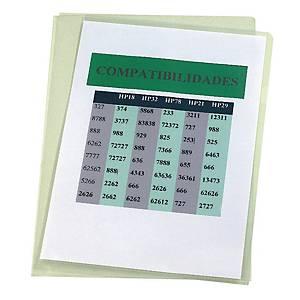 PK100 ESSELTE C/FLUSH FOLD PVC A4 150MIC