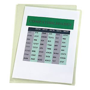 Pack de 100 dosieres uñero Esselte - A4 - PVC liso - 180 μ - transparente