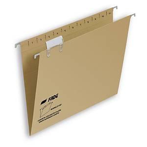 Pack de 25 carpetas colgantes Fade - folio prolongado - kraft - lomo V