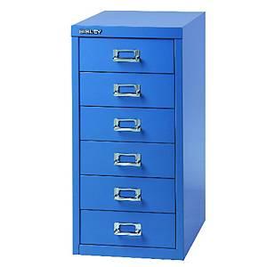 Meuble à tiroirs Bisley Multidrawer, 6 tiroirs, L27 x P38 x H59 cm, bleu