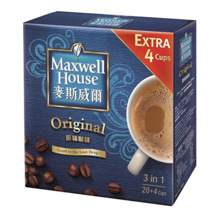 Maxwell House 3 In 1 Coffee Mix Box Of 24